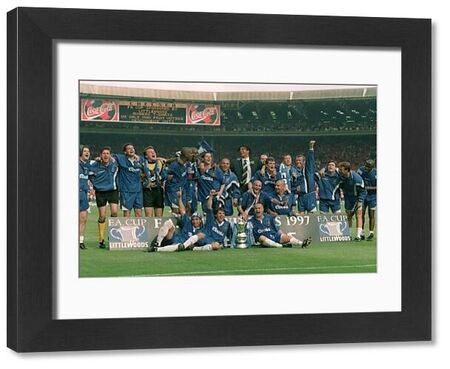 Chelsea celebrate winning the FA Cup