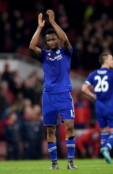 Chelsea's Mikel John Obi celebrates after the final whistle