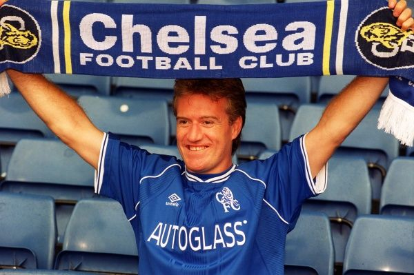 New Chelsea signing and French World Cup winning captain Didier Deschamps at Chelsea's Stamford Bridge to announce his arrival at the London club