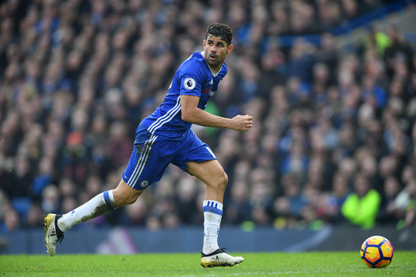LONDON, ENGLAND - FEBRUARY 04: Diego Costa of Chelsea in action during the Premier League match between Chelsea and Arsenal at Stamford Bridge on February 4, 2017 in London, England. (Photo by Darren Walsh/Chelsea FC via Getty Images)