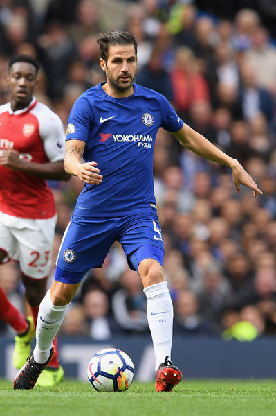 LONDON, ENGLAND - SEPTEMBER 17: Cesc Fabregas of Chelsea in action during the Premier League match between Chelsea and Arsenal at Stamford Bridge on September 17, 2017 in London, England. (Photo by Darren Walsh/Chelsea FC via Getty Images)