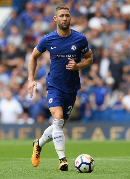 LONDON, ENGLAND - AUGUST 12: Gary Cahill of Chelsea in action during the Premier League match between Chelsea and Burnley at Stamford Bridge on August 12, 2017 in London, England. (Photo by Darren Walsh/Chelsea FC via Getty Images)