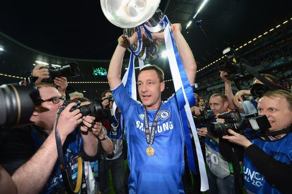 MUNICH, GERMANY - MAY 19: MUNICH, GERMANY - John Terry of Chelsea celebrate winning the UEFA Champions League Final between FC Bayern Muenchen and Chelsea at the Fussball Arena M?nchen on May 19, 2012 in Munich, Germany (Photo by Darren Walsh/Chelsea