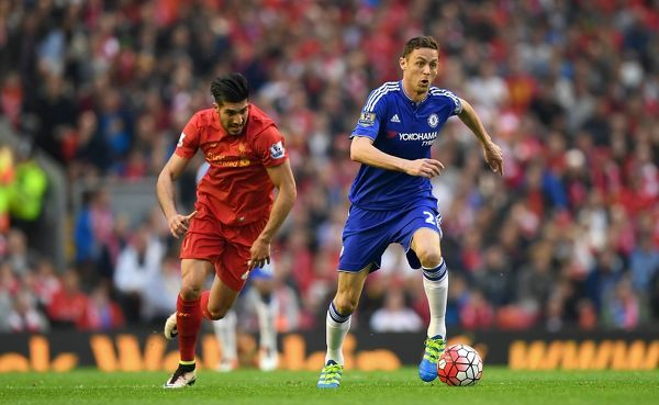Chelsea's Nemanja Matic and Liverpool's Emre Can battle for the ball