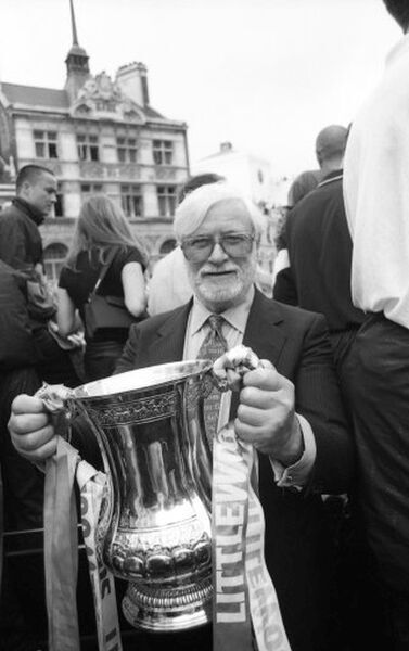 Chelsea Chairman Ken Bates with the FA Cup (Photo by Francis Glibbery/Chelsea FC/Press Association Image)
