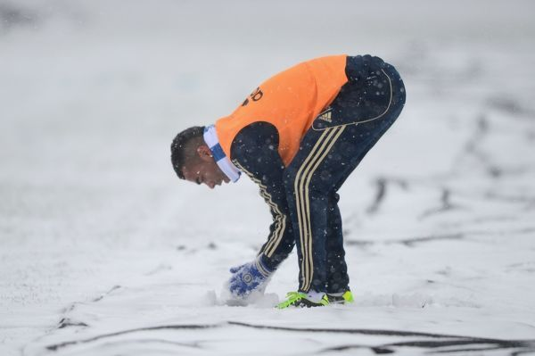 Chelsea's Ashley Cole during a training session at the Cobham Training Ground on 18th January 2013 in Cobham, England