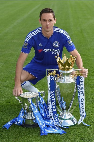 Chelsea's Nemanja Matic during the 1st team photocall at the Cobham Training Ground on 10th September 2015 in Cobham, England