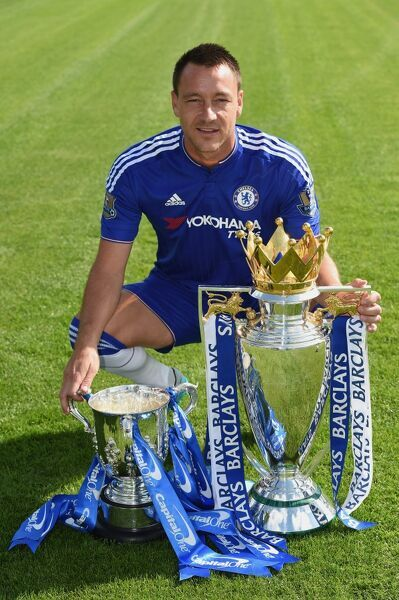 Chelsea's John Terry during the 1st team photocall at the Cobham Training Ground on 10th September 2015 in Cobham, England