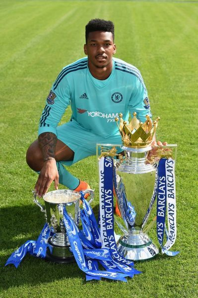 Chelsea's Jamal Blackman during the 1st team photocall at the Cobham Training Ground on 10th September 2015 in Cobham, England