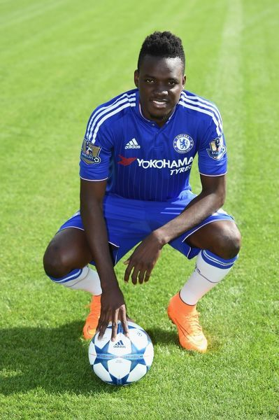 Chelsea's Bertrand Traore during the 1st team photocall at the Cobham Training Ground on 10th September 2015 in Cobham, England
