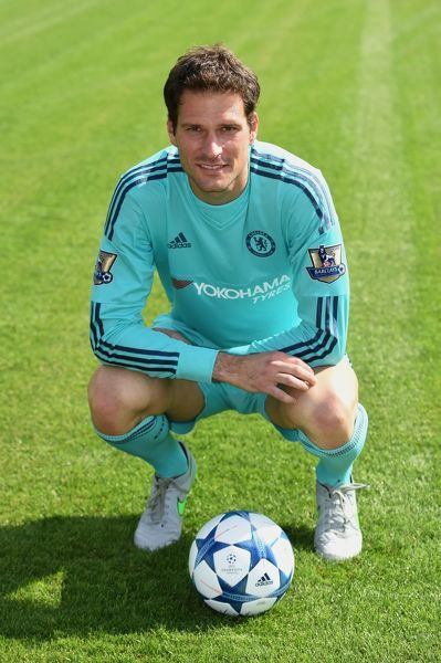 Chelsea's Asmir Begovic during the 1st team photocall at the Cobham Training Ground on 10th September 2015 in Cobham, England