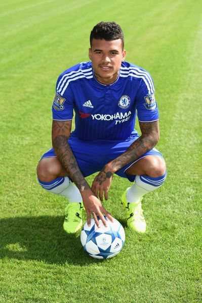Chelsea's Kenedy during the 1st team photocall at the Cobham Training Ground on 10th September 2015 in Cobham, England