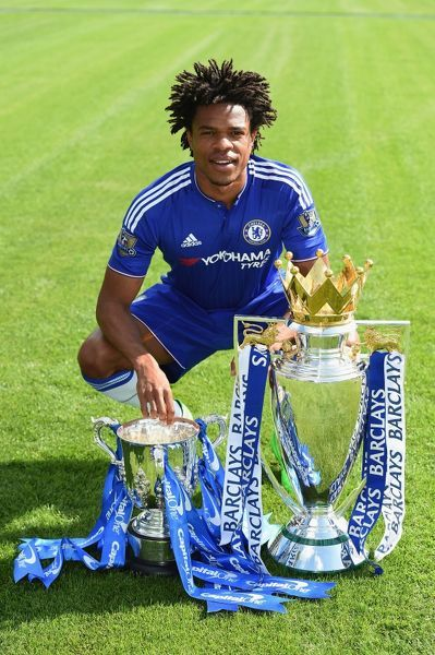 Chelsea's Loic Remy during the 1st team photocall at the Cobham Training Ground on 10th September 2015 in Cobham, England