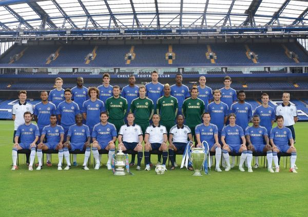 EDITORS PLEASE NOTE: THIS IMAGE SUPPLIED BY CHELSEA FC IS A COMPOSITE OF MULTIPLE IMAGES  The 2012/2013 Chelsea squad