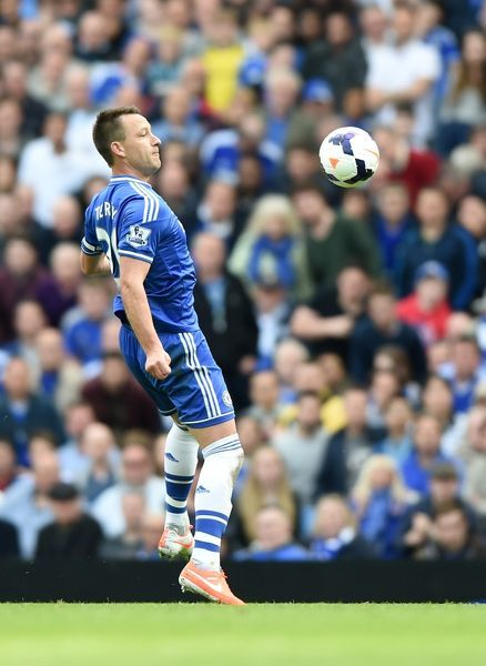 Chelsea's John Terry controls the ball