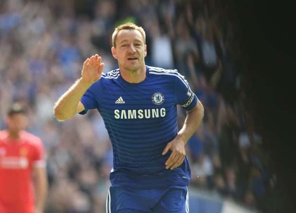 Chelsea's John Terry celebrates scoring his team's opening goal