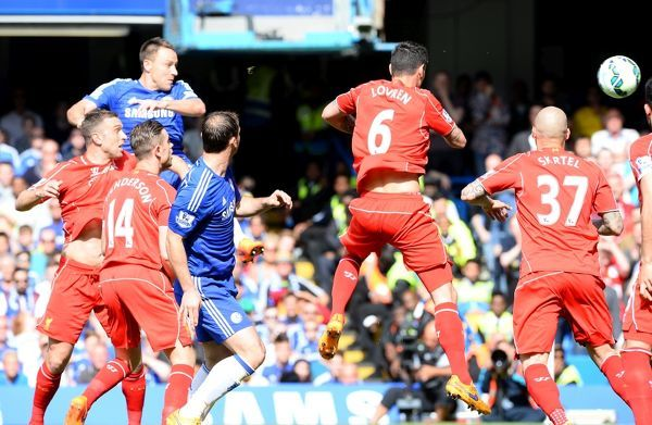 Chelsea's John Terry scores his side's first goal of the game
