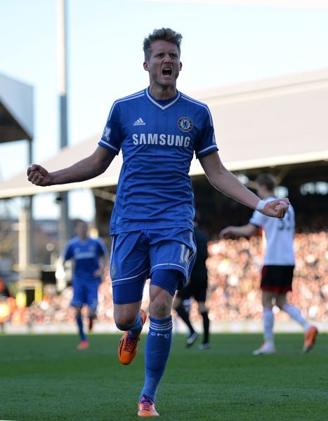 Chelsea's Andres Schurrle celebrates his goal