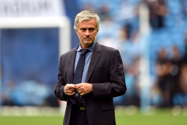 Chelsea manager Jose Mourinho before the Barclays Premier League match between Manchester City and Chelsea at Etihad Stadium on 16th August 2015 in Manchester, England