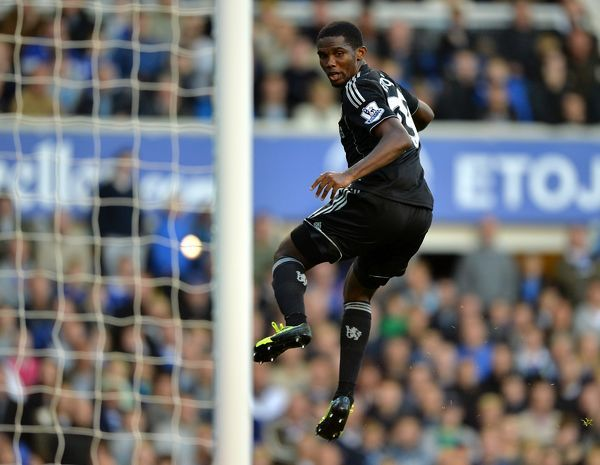 Chelsea's Samuel Eto'o in action
