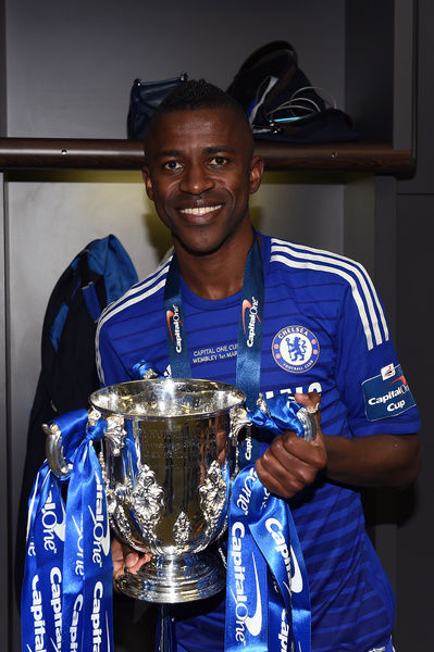 Chelsea's Ramires with the Capital One Cup