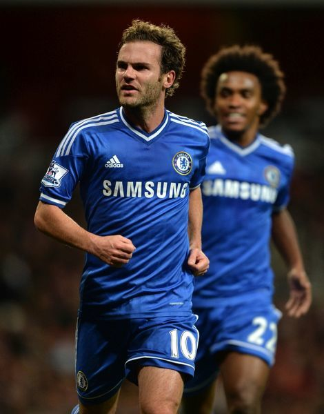 Chelsea's Juan Mata celebrates scoring his side's second goal of the game