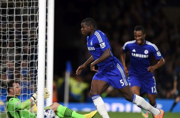 Chelsea's Kurt Zouma celebrates scoring his sides first goal of the game