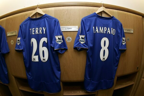 The shirts of John Terry and Frank Lampard
