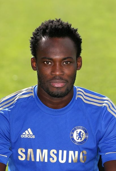 Chelsea's Michael Essien pictured at the clubs' annual team photo session at Cobham Training Ground, Surrey