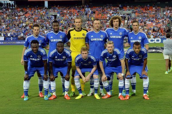 Chelsea team group during a Pre Season Friendly match between Chelsea and AS Roma at the RFK Stadium on 10th August 2013 in Washington DC, USA