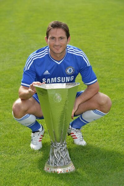 Chelsea's Frank Lampard during the 1st team photocall at the Cobham Training Ground on 23rd August 2013 in Cobham, England
