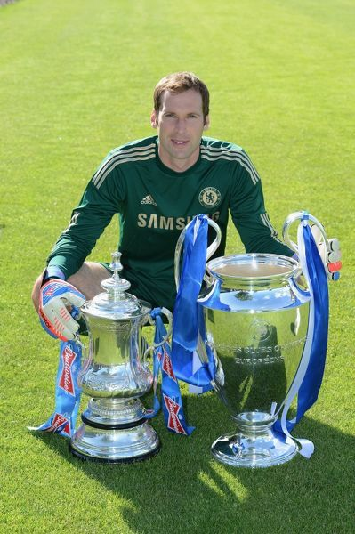 Chelsea's Petr Cech during the team photocall at Cobham Training Ground on 28th August 2012 in Cobham, England