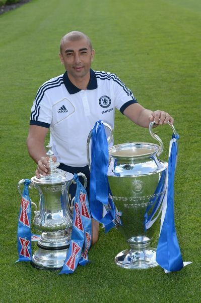 Chelsea's Roberto Di Matteo during the team photocall at Cobham Training Ground on 28th August 2012 in Cobham, England