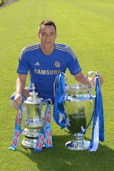 Chelsea's John Terry during the team photocall at Cobham Training Ground on 28th August 2012 in Cobham, England