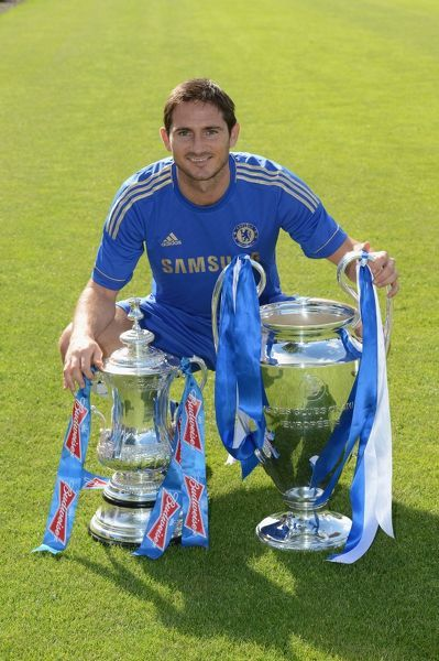 Chelsea's Frank Lampard during the team photocall at Cobham Training Ground on 28th August 2012 in Cobham, England