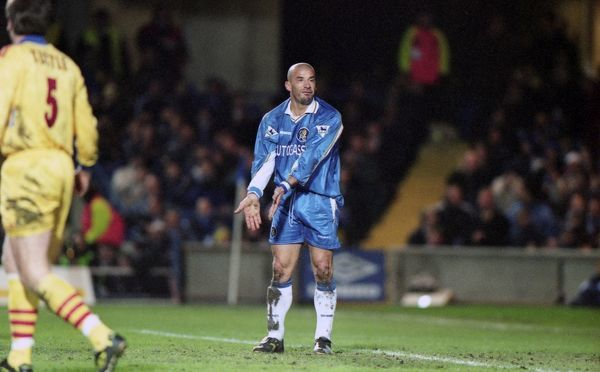 Chelsea's Gianluca Vialli. (Photo by Dave Shopland/Chelsea FC/Press Association Image)