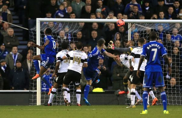 Chelsea's Jon Obi Mikel scores his side's first goal of the game