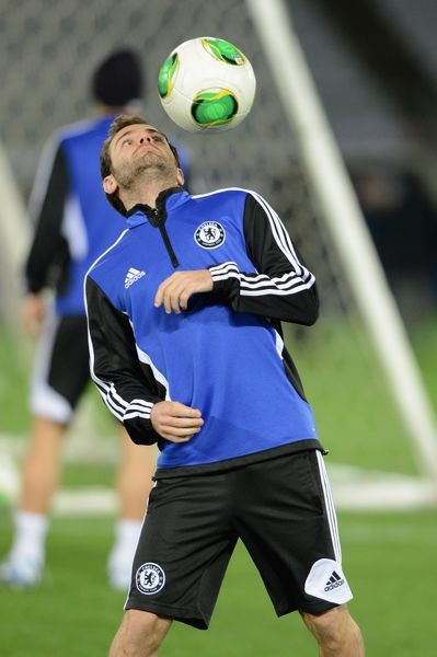 Chelsea's Juan Mata during a training session before the FIFA Club World Cup at the International Station Yokohama on the 12th December 2012 in Yokohama, Japan