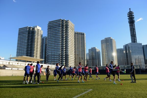 Chelsea during a training session for the FIFA Club World Cup at the Marinos Town Training Ground on the 10th December 2012 in Yokohama, Japan