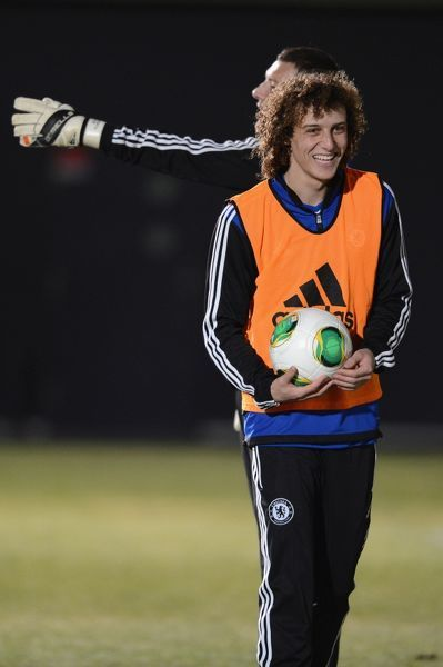 Chelsea's David Luiz during a training session for the FIFA Club World Cup at the Marinos Town Training Ground on the 11th December 2012 in Yokohama, Japan