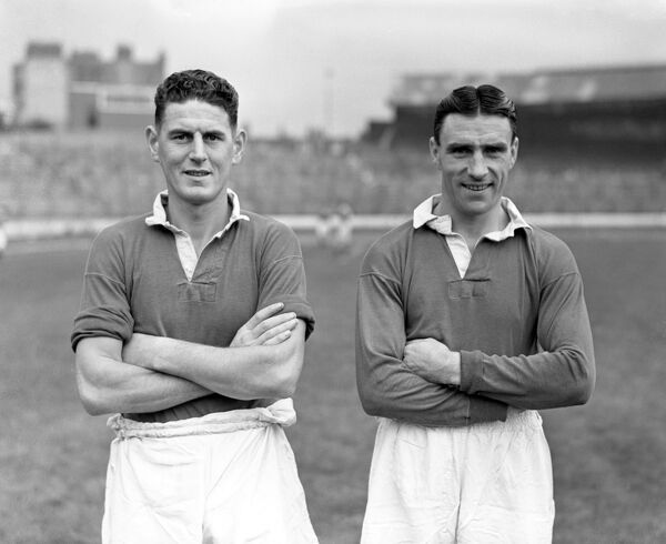 Chelsea FC photocall - (from left) Stan Williams and Bobby Campbell