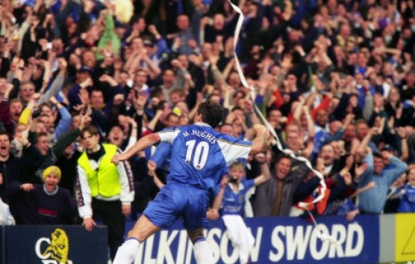 Chelsea's Mark Hughes after scoring (Photo by Dave Shopland/Chelsea FC/Press Association Image)