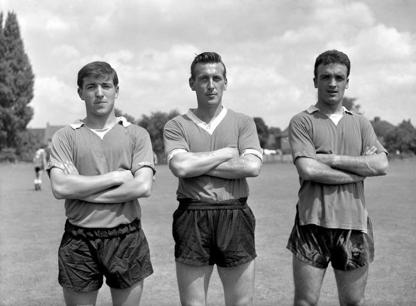 Left to right, Terry Venables, Derek Gibbs, and Mel Scott, Chelsea FC