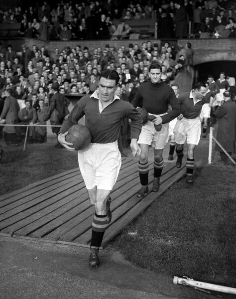 Bobby Campbell of Chelsea running out onto the pitch with the ball