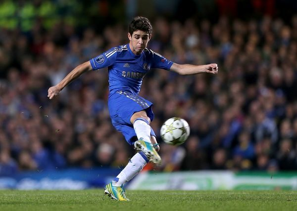 Chelsea's Emboaba Oscar scores his side's second goal of the game