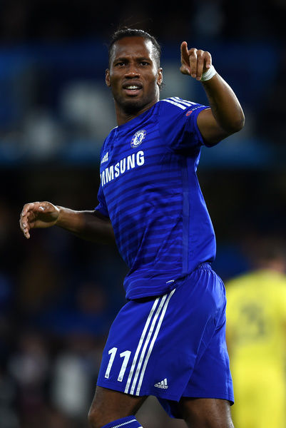 Chelsea's Didier Drogba celebrates scoring his sides second goal of the game