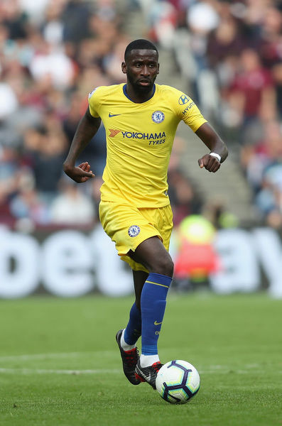 LONDON, ENGLAND - SEPTEMBER 23: Antonio Rudiger of Chelsea during the Premier League match between West Ham United and Chelsea FC at London Stadium on September 23, 2018 in London, United Kingdom