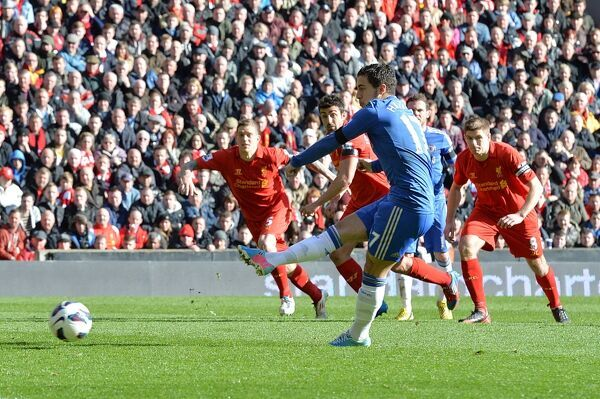 Chelsea's Eden Hazard scores their second goal of the game from the penalty spot