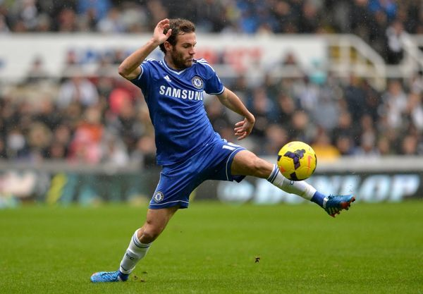 Chelsea's Juan Mata in action