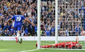 seasons past/league matches 2014 2015 season chelsea v leicester city 23rd august 2014/soccer barclays premier league chelsea v leicester